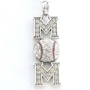 Baseball Mom Pendant Chain Necklace